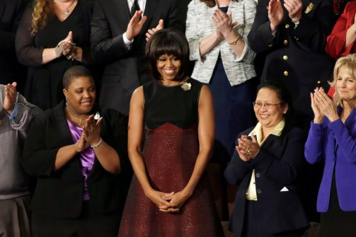 Alaia Dress And Jacket Mrs. Obama Wore First Lady Michelle Obama