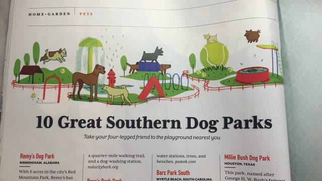 Southern Living Magazine Loves Millie Bush Dog Park
