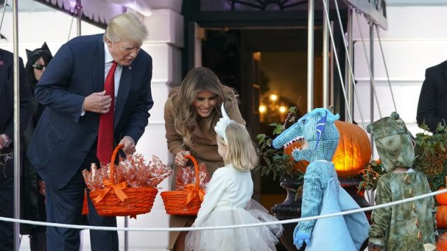 Halloween at the White House Continues with President & Mrs. Trump