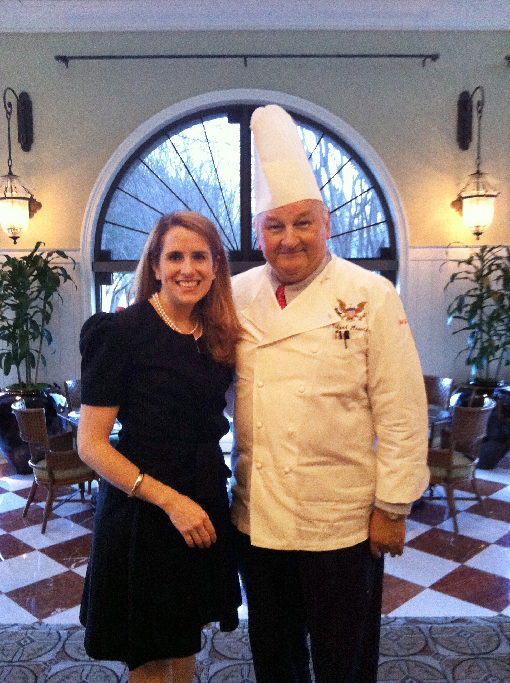Jennifer Pickens with White House Chef Roland Mesnier